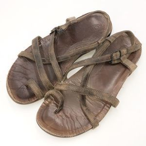 Chaco Leather Toe Strap Sandals